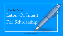 How To Write A Letter Of Intent For Scholarship (4 PDF Sample LOI Example)